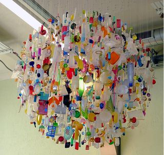 Tide chandelier of things found on the beach -- Flikr photograph by Stuart Haygarth